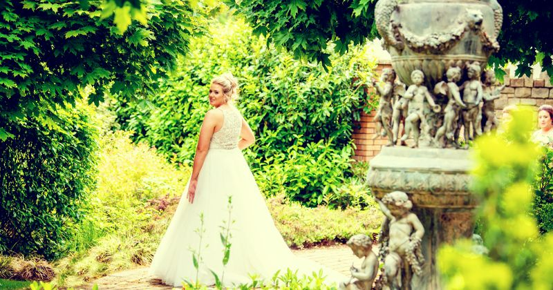 Bride in Walled Garden